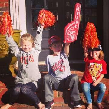 Image result for kids 49ers fans
